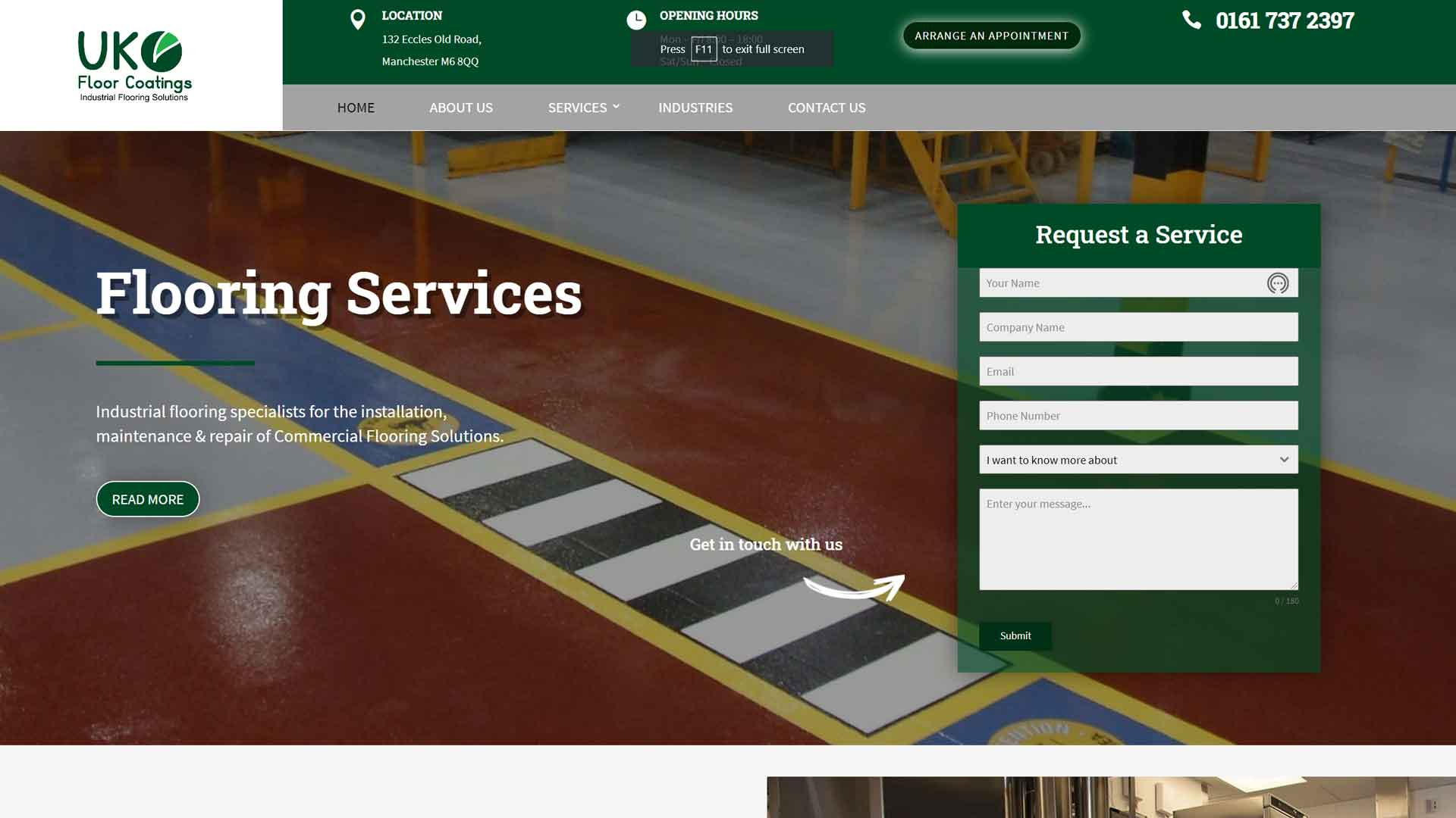 Trades and Construction Website Design Image