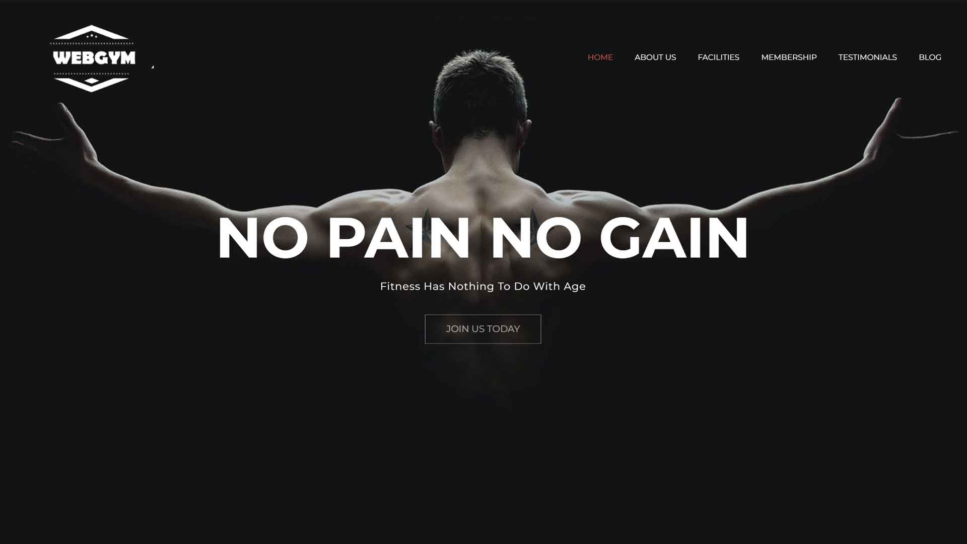 Sports and Fitness Website Design Image