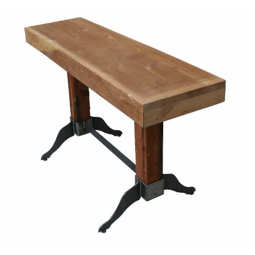 Clevedon Butchers Table/Bench with Reclaimed Top