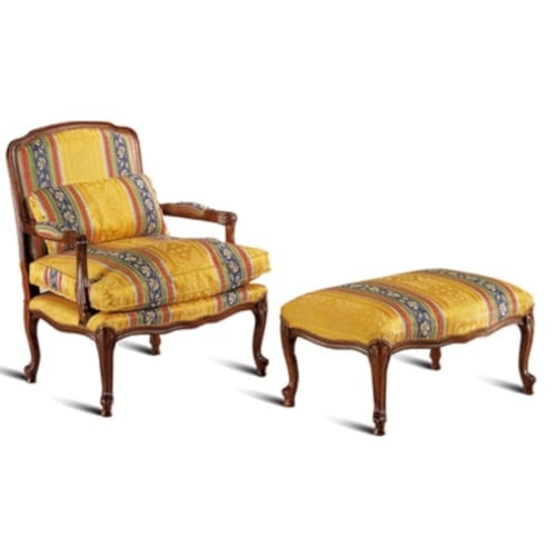 Gabriella armchair and footstool
