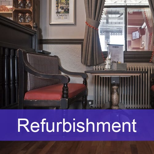Refurbishment - Foremost Furniture Ltd, Contract pub, hotel and restaurant tables and chairs