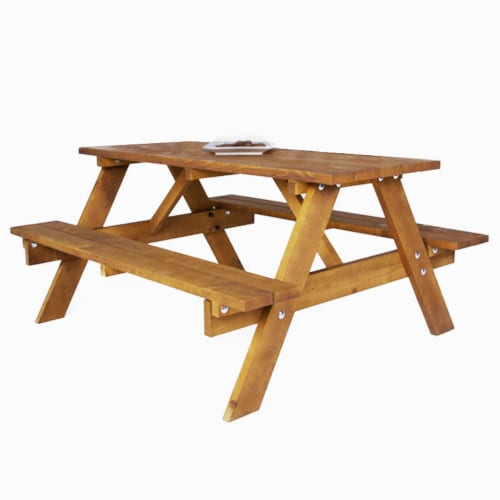 Junior durham A-frame traditional picnic table