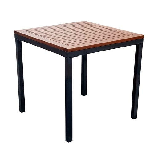 Dorset square table and 4 stacking sidechairs