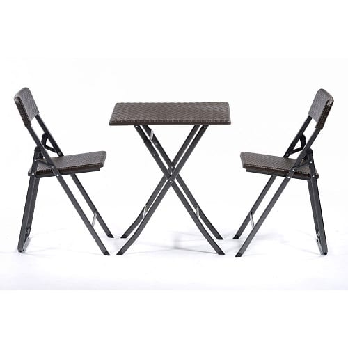Durafold bistro brown folding set
