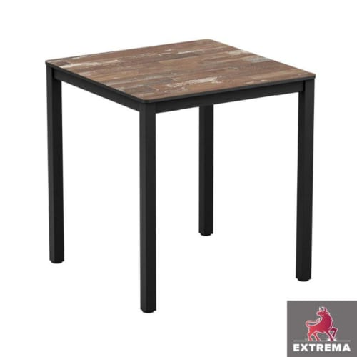 Extrema 4-leg dining table - Planked vintage wood top