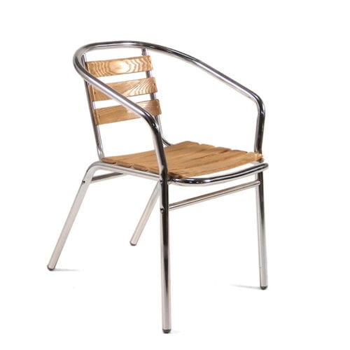 Ash stacking armchair