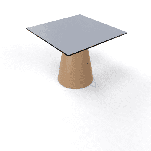 Roller Table 550 68x68 brown pearl grey