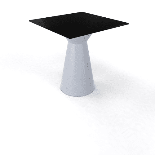 Roller Table 740 68x68 pearl grey black