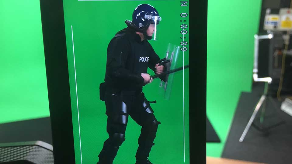 greenscreen police filming image